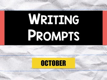 Picture Writing Prompts: October