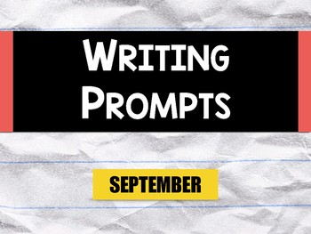 Picture Writing Prompts: September