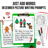 Picture Writing Prompts for December   Writing Center   Christmas   Winter