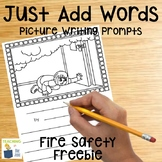 Fire Safety Writing Activity   Picture Writing Prompts   Writing Center   FREE