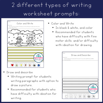 Spring Writing Activities with Expanded Picture Prompts