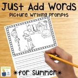 Picture Writing Prompts for Summer | NO PREP Writing | Dis