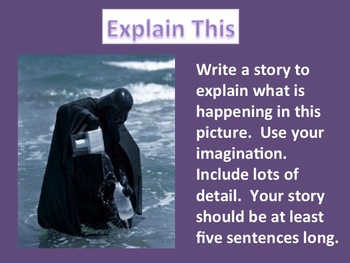 Picture Writing Prompts for Whiteboard Set 2