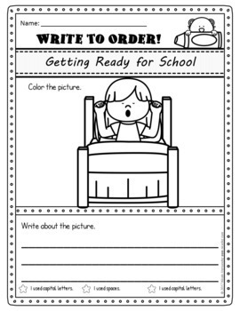 Sequencing and Writing - Write to Order (102 pages)
