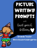 Picture Writing Prompts with Speech Balloons