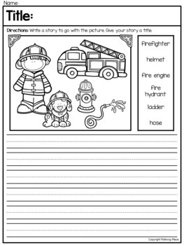 Picture Writing Prompts with Vocabulary