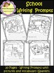 Picture Writing Prompts with Vocabulary - School - Spanish (School Designhcf)