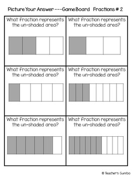 Fraction Activities - Self Checking Picture Your Answer Centers