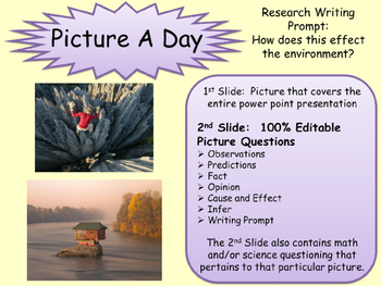 PICTURE OF THE DAY Sample ELA, Math, Social Studies, Scien
