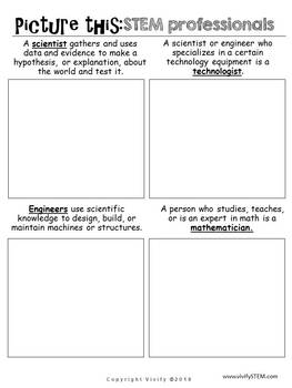 Picture a STEM Professional Critical Thinking Worksheet