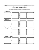 Picture analogies worksheet