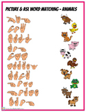 Picture and ASL Word Match