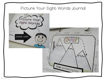 Picture and Label Sight Word Practice Pages