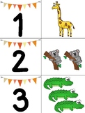Picture and Number Matching Animals