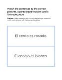 Picture and Sentence Match/Aparea cada oración con la foto