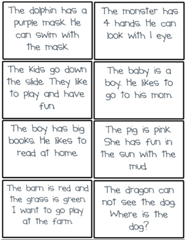 Picture and Sentence Match- set 1