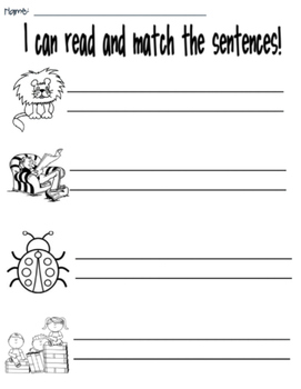 Picture and Sentence Match- set 2