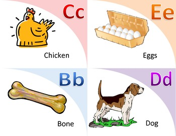 Picture and Word Association Matching Flashcards
