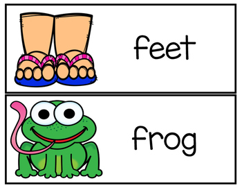 Picture and Word Flash Cards for Beginning Readers