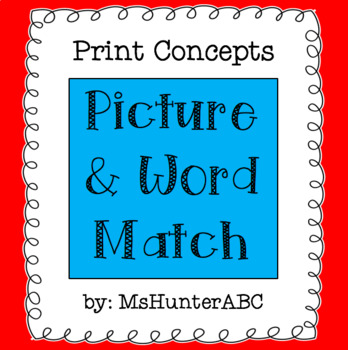 Picture and Word Match