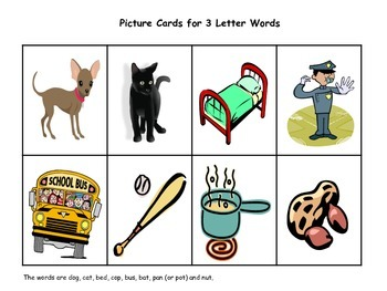 Picture and Word Mats with Letter Tiles
