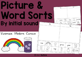 Picture and word sorts worksheets