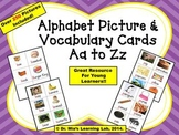 Alphabet Picture & Vocabulary Cards (Letters Aa to Zz)