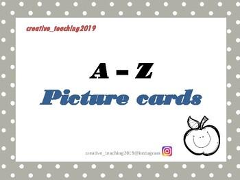 Picture cards alphabet
