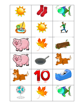Picture cards for System 44 Phoneme Matching