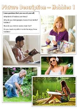 Picture description for English language learners- SET 1