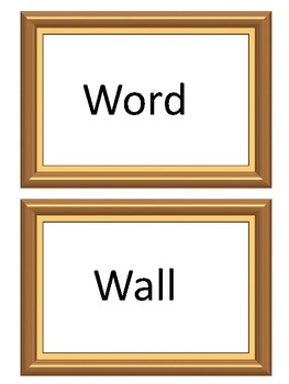 Picture frame word wall