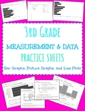 Picture graphs, Bar graphs, Line plot practice sheets