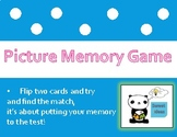 Picture memory game