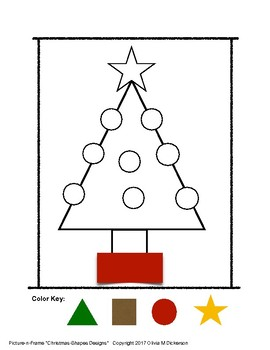 """Picture-n-Frame  """"Christmas - Shapes Design 2"""""""