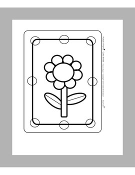 """Picture-n-Frame™ """"Flower Coloring Sheet"""""""