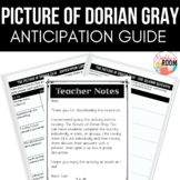 Picture of Dorian Gray Pre Reading Activities and Anticipa