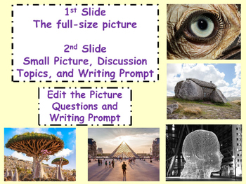 PICTURE OF THE DAY 1st Nine Weeks Critical Thinking, Writing Prompt All Subjects