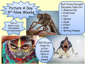 PICTURE OF THE DAY 4th Nine Weeks Critical Thinking Visual