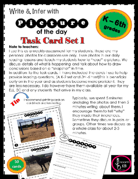 Picture of the Day Task Cards - volume 1