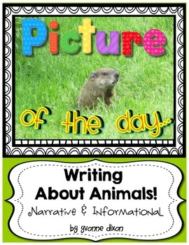 Picture of the Day...Writing About Animals! {Narrative and Informational}
