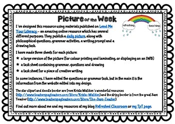 Picture of the Week - Thinking and Writing Tasks