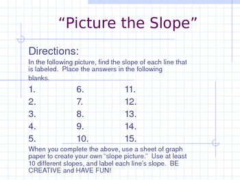 Picture the Slope