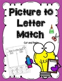 Beginning Sound (Picture to Letter Match) - Cut and Paste