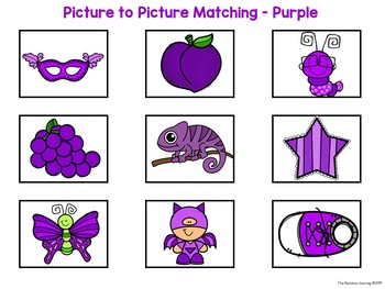 Picture to Picture Matching - Purple Items