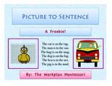 Picture to Sentence CVC Montessori