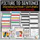 Picture to Sentence Interactive Workbook + Worksheets: Back to School