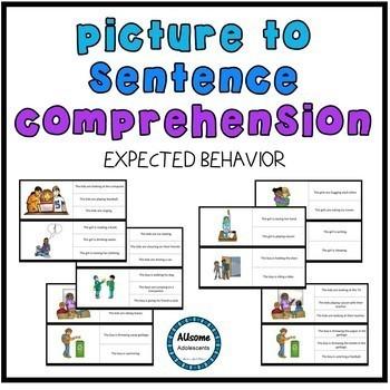 Picture to Sentence BEHAVIOR MANAGEMENT Reading Comprehension BUNDLE