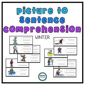 Picture to Sentence Reading Comprehension SEASONS BUNDLE