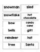 Picture to Word Match- Winter Themed