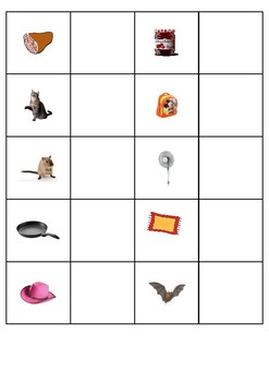 Word to Picture Matching - CVC Phoneme Sheets for Autism/Special Education